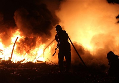 آتش سوزی در نمایشگاه عرضه محصولات بهاره در تهرانسر