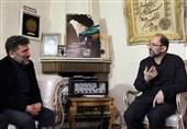 حضور سعید حدادیان در منزل شهید مدافع وطن + تصاویر