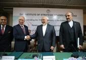 سخنرانی ظریف در مرکز مطالعات استراتژیک اسلام آباد+ عکس