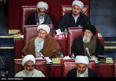 آیتالله محمد مؤمن در مراسم افتتاحیه چهارمین اجلاسیه دوره پنجم مجلس خبرگان رهبری