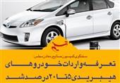 فتوتیتر| تعرفه واردات خودروهای هیبریدی 5 تا 20 درصد شد