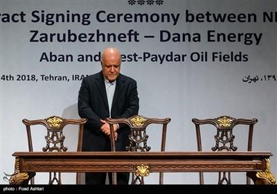 مراسم امضای قرارداد میادین نفتی آبان و پایدار غرب