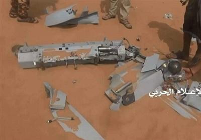 سرنگونی پهپاد متجاوزان سعودی به دست نیروهای یمنی