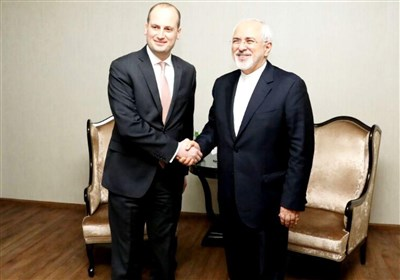ظریف و وزیر خارجه گرجستان در باکو دیدار کردند