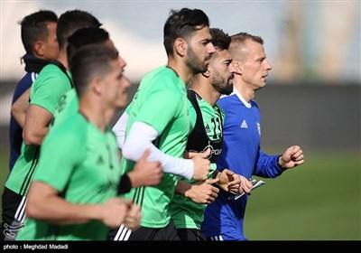 آخرین تمرین تیم ملی پیش از مصاف با تونس در غیاب آزمون و حضور سفیر