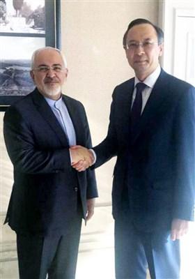 دیدار ظریف و وزیر خارجه قزاقستان در آستانه