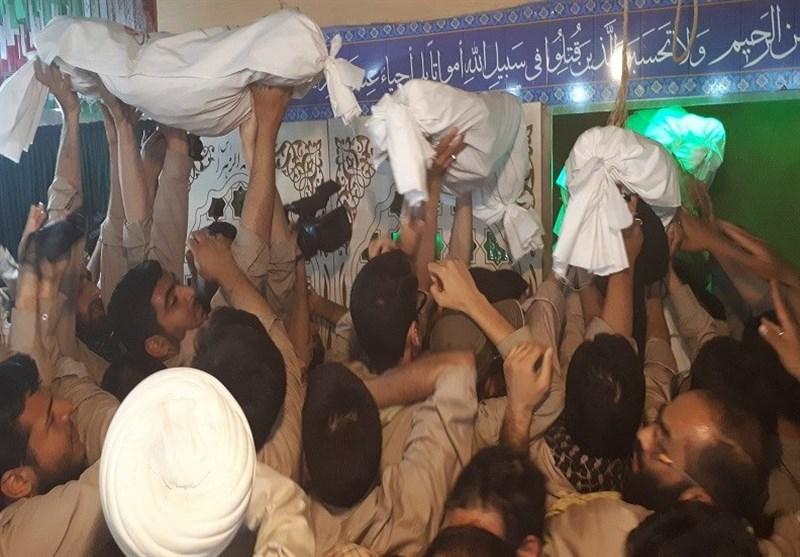 راهیان نور  تشییع پیکر 25 شهید گمنام در معراج شهدای اهواز+فیلم