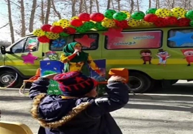 قزوین| ماشین شادی و دوستی در محلات شهر قزوین به راه افتاد