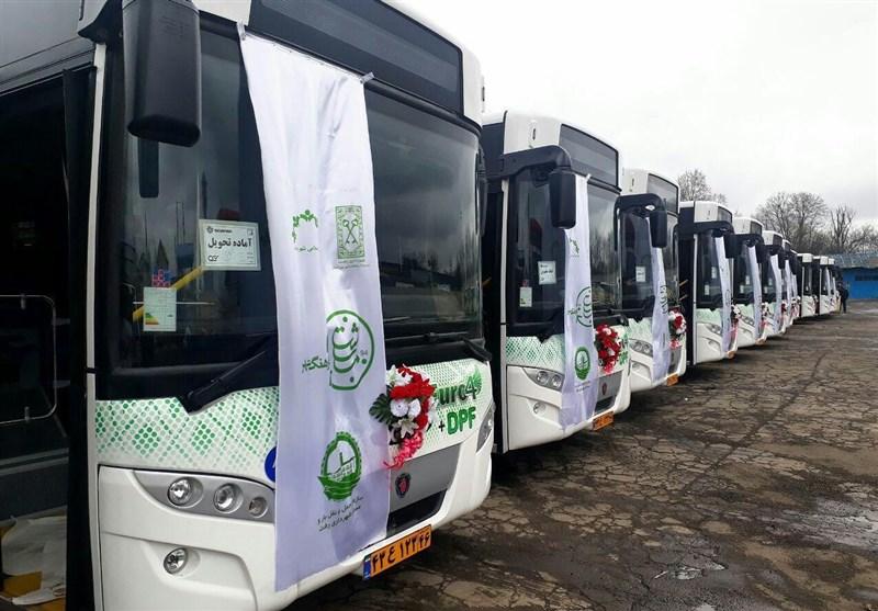 تعداد اتوبوسهای شهری در رشت به ۱۰۶ دستگاه میرسد+فیلم