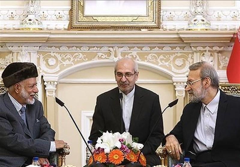 لاریجانی یشید بدور سلطنة عمان المفید والمثمر فی المنطقة