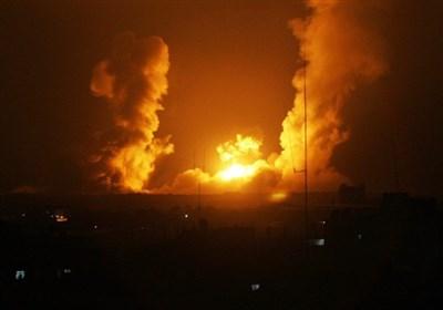 حملات جنگنده های صهیونیستی به مناطقی در نوار غزه