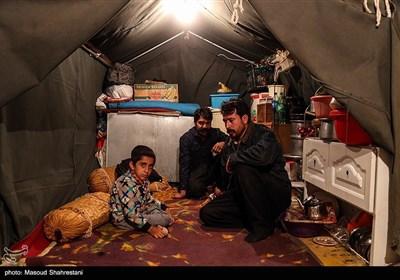 زندگی زلزله زدگان کرمانشاه در چادر