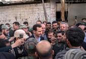 بشار الاسد مشرقی غوطہ پہنچ گئے، شہریوں کا پُرجوش استقبال + تصاویر