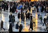 حضور پرشور زائران در بارگاه منور رضوی در آستانه حلول سال نو+عکس