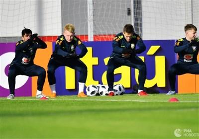 نخستین تمرین برزیل در مسکو پیش از مصاف با میزبان جام جهانی 2018