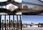 آذربایجان غربی  بنای تاریخی مسجد جامع ارومیه پشت درهای بسته+تصایر