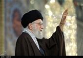 حرم الرضا؛ امام خامنہ ای کے خطاب کی تصویری جھلکیاں