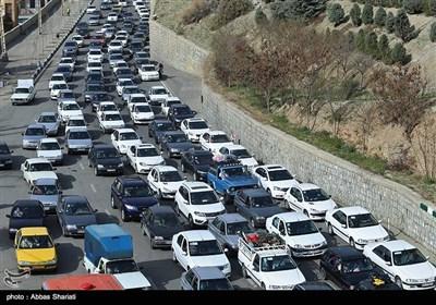ترافیک سنگین جاده کرج به چالوس