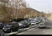 بارش باران و برف در جادههای 27 استان/ترافیک سنگین در آزادراه تهران-کرج-قزوین