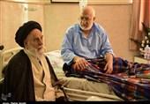 کرمان| عیادت آیتالله سیدیحیی جعفری از بیماران به روایت تصویر