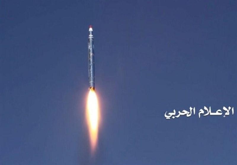 """القوة الصاروخیة الیمنیة تزیح الستار عن منظومة الصواریخ البالیستیة الجدیدة """" بدر"""""""