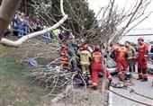 تصادف شدید در بزرگراه شهید ستاری به روایت تصویر