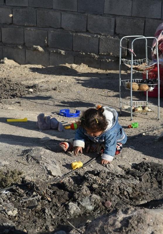 کودکان کرمانشاهی در معرض خطر!+ عکس