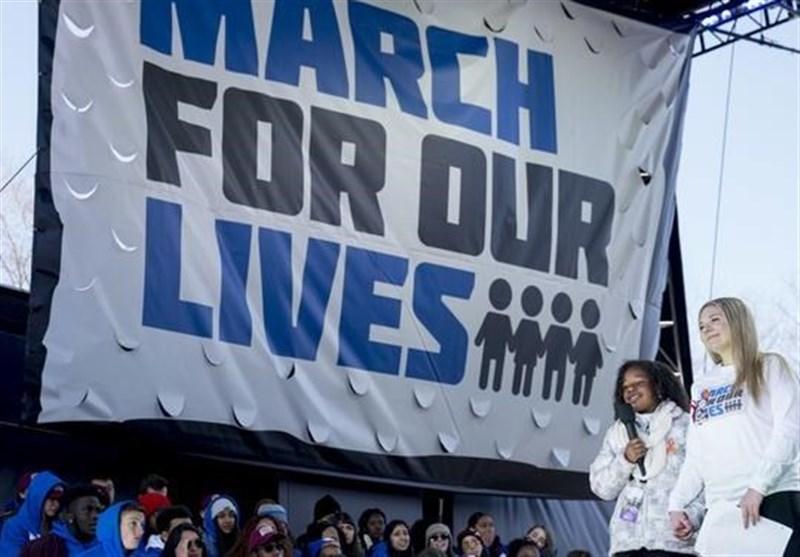 تظاهرات صدهاهزار نفر در آمریکا علیه خشونت سلاح+فیلم و عکس