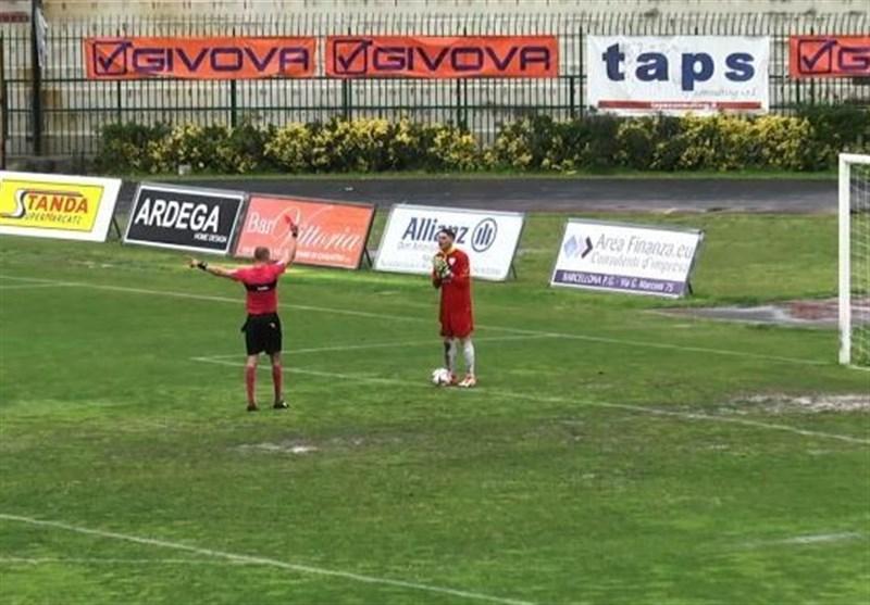 اخراج دروازهبان تیم فوتبال مسینای ایتالیا به یک دلیل غیراخلاقی!
