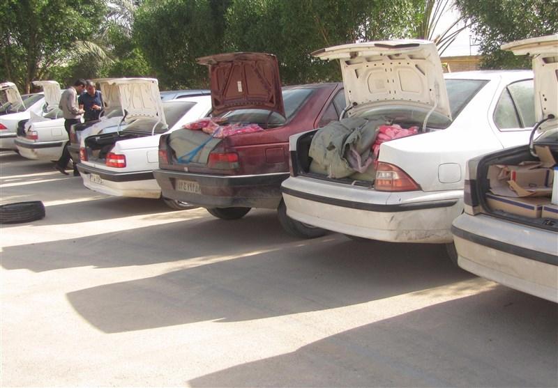 بوشهر| 10دستگاه «خودرو شوتی» حامل کالای قاچاق در دشتستان توقیف شد