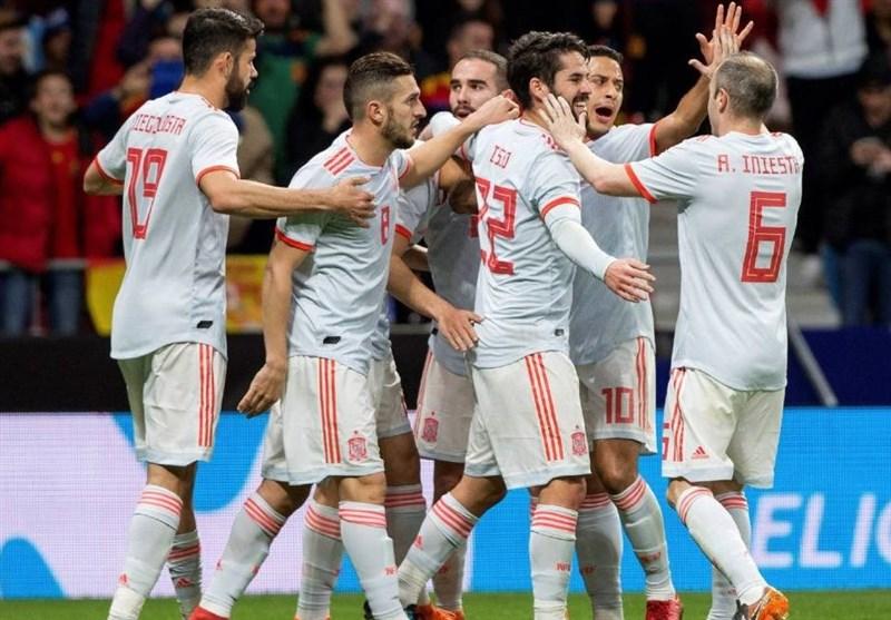 بازیهای دوستانه ملی| اسپانیا، آرژانتین بدون مسی را گلباران کرد