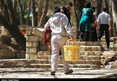بجنورد| حضور مسافران نوروزی در پارک ملی باباامان به روایت تصویر