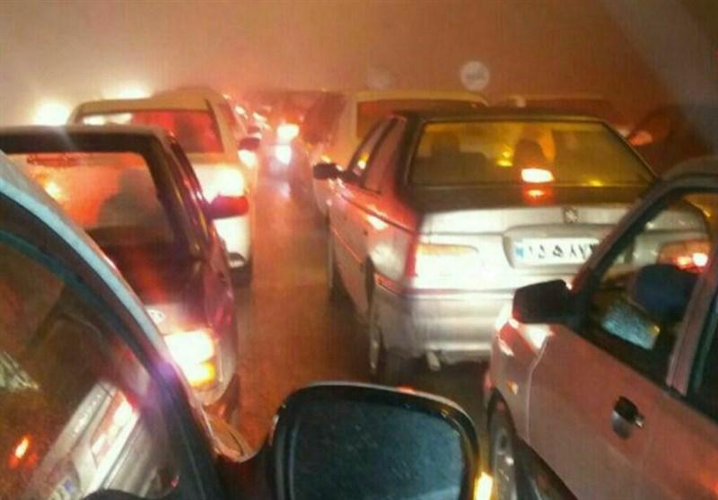 اردبیل| ترافیک سنگین محور گردنه حیران را قفل کرد
