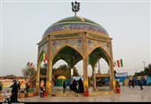 راهیاننور 97| برگزاری نمایشگاه زهراییان نیروی زمینی ارتش در مقبره شهدای گمنام اندیمشک+تصاویر