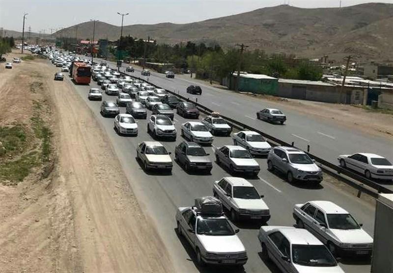 ساری|ترافیک محورهای مواصلاتی مازندران سنگین است