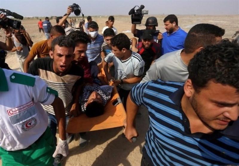 إصابة 8 شبان فلسطینیین برصاص الاحتلال شرق مدینة غزة ومخیم البریج