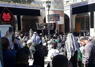 مراسم رحلت حضرت زینب (سلام الله علیها) در حرم مطهر ایشان در سوریه