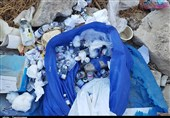 خوزستان|رهاسازی پسماندهای عفونی بیمارستانی در اطراف بیمارستان راه زینب