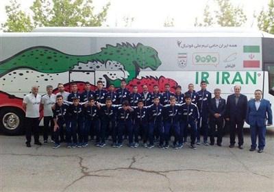 سفر تیم فوتبال نونهالان ایران به ارمنستان