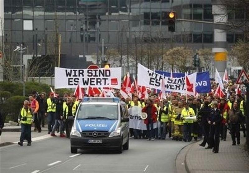 ادامه اعتصاب های گسترده در بخش خدمات عمومی در آلمان در اعتراض به دستمزدها