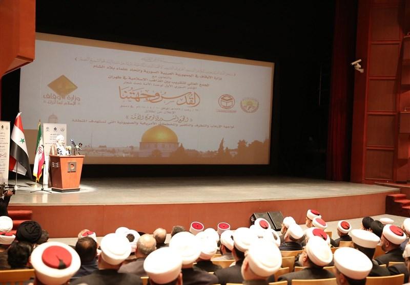 گزارش خبرنگار تسنیم در دمشق اولین کنفرانس وحدت امت اسلام؛ بررسی راههای مقابله با نقشههای آمریکایی صهیونیستی