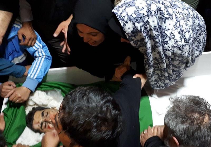 مراسم وداع با پیکر سه شهید ایرانی پایگاه هوایی تیفور+عکس و فیلم