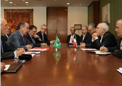 دیدار ظریف با وزیر خارجه برزیل