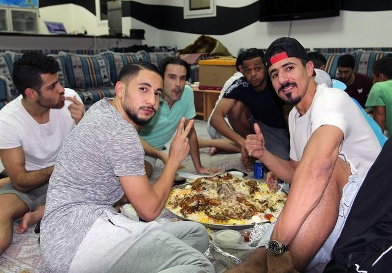 ژاوی و پورعلیگنجی در جشن شام تولد فرزند دروازهبان السد + عکس