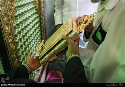 مراسم غبارروبی آستان مقدس امامزاده علی اکبر(ع)چیذر برگزار شد+عکس