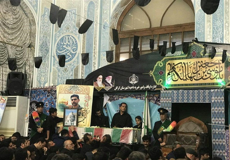گرگان  وداع با شهید مدافع حرم حجت الله نوچمنی در گرگان+تصاویر