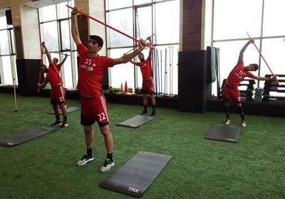 برگزاری تمرین ریکاوری تیم ملی فوتبال با حضور کی روش