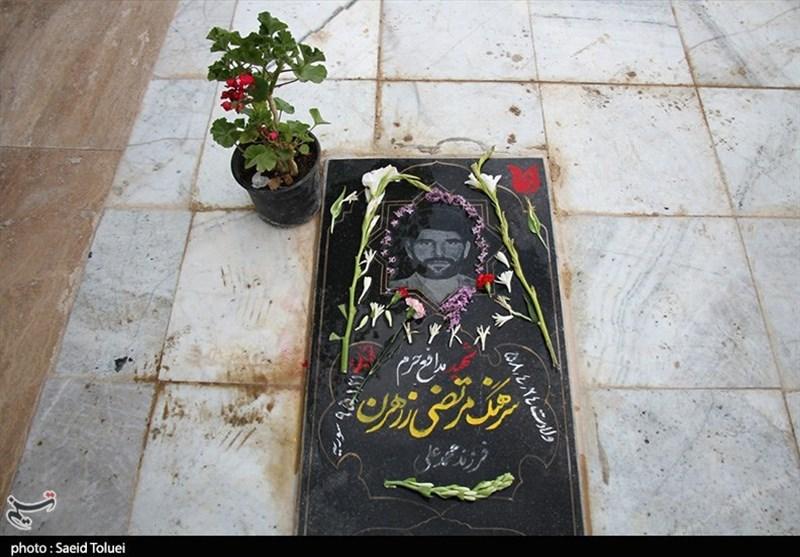 """یادنامهای برای شهید ارتشی مدافع حرم؛ وقتی خراسان شمالی با تصویر """"شهید زرهرن"""" زینت گرفت + تصاویر"""