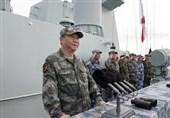 رئیس جمهور چین شخصا بر یک مانور بزرگ دریایی نظارت کرد