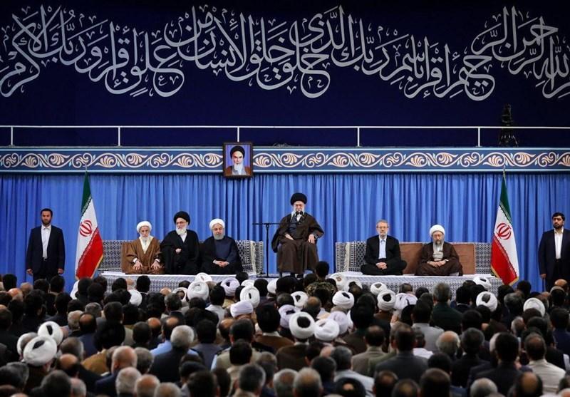 امام خامنهای:حمله به سوریه جنایت است/رئیسجمهور آمریکا، رئیسجمهور فرانسه و نخستوزیر انگلیس جنایتکارند